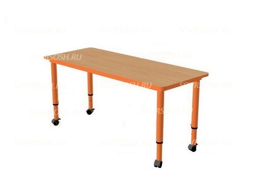 Модуль дидактической мебели САМОДЕЛКИН (стол прямоугольный регулируемый на колесиках)