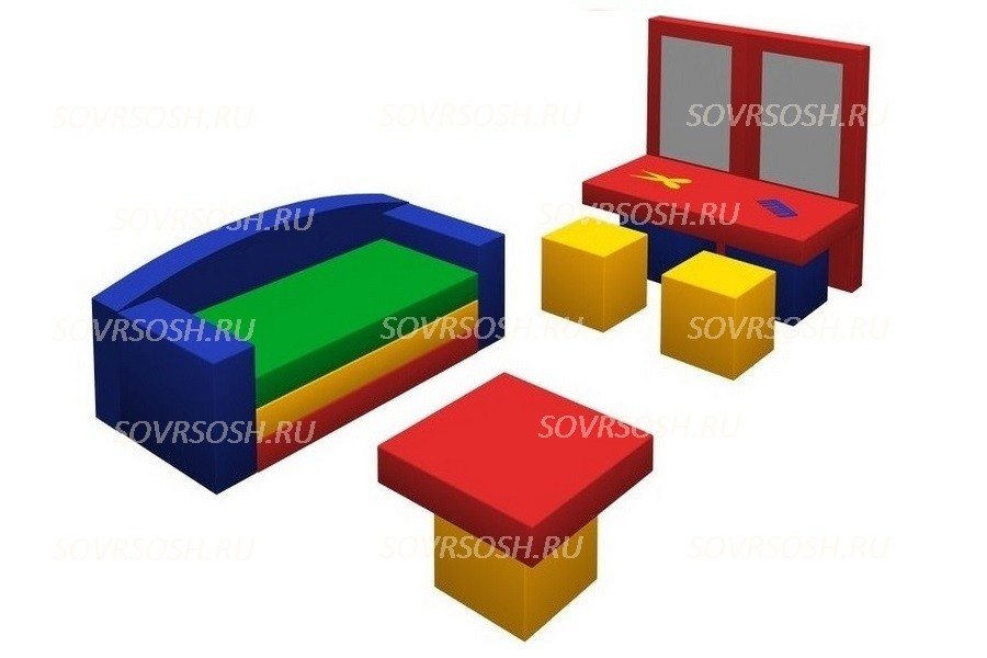Мебель детская игровая мягкая ПАРИКМАХЕРСКАЯ набор