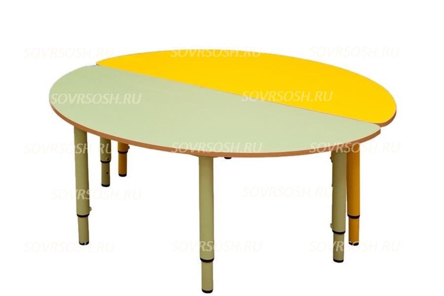 Стол детский регулируемый цельносварной ПОЛУКРУГЛЫЙ (круглая труба)