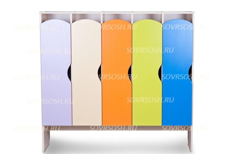 Шкаф детский для одежды 5-и секционный КРАСКИ
