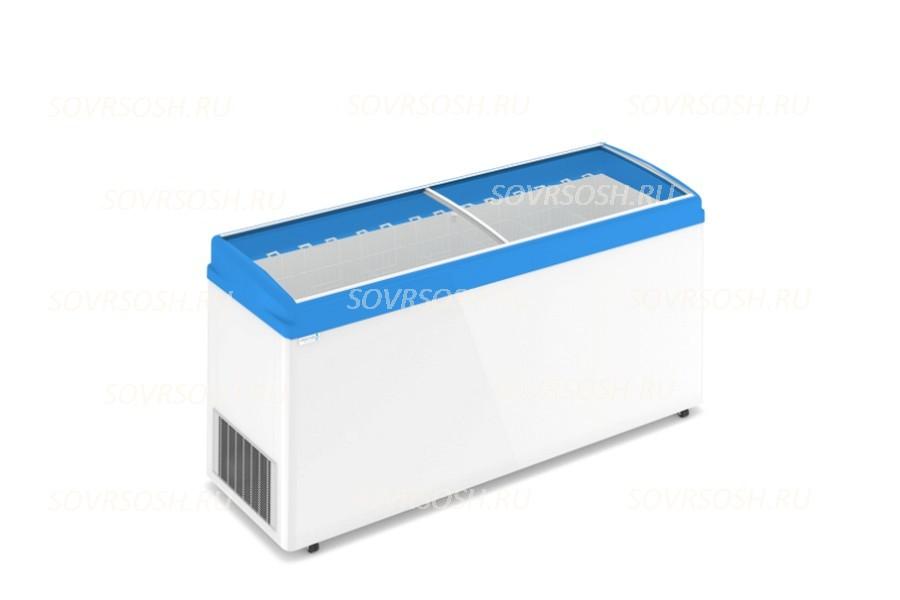 Морозильный ларь F 700 E / 573л, Гнутое  стекло, 1800х600х820мм, 7 корзин, колеса, замок
