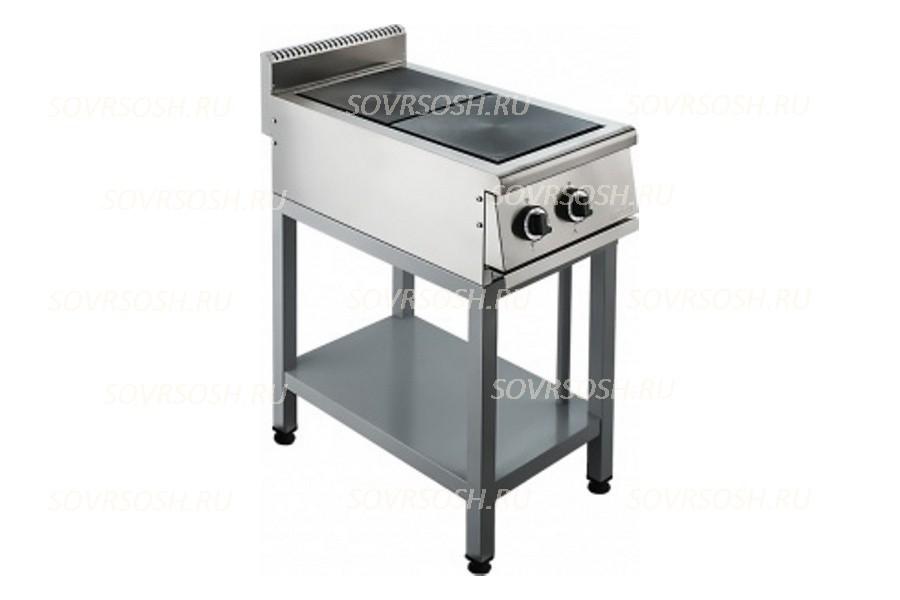 Плита электрическая 2-комфорочная без жарочного шкафа ПЭ-722О / 5,5кВт, 380В / вся нержавейка