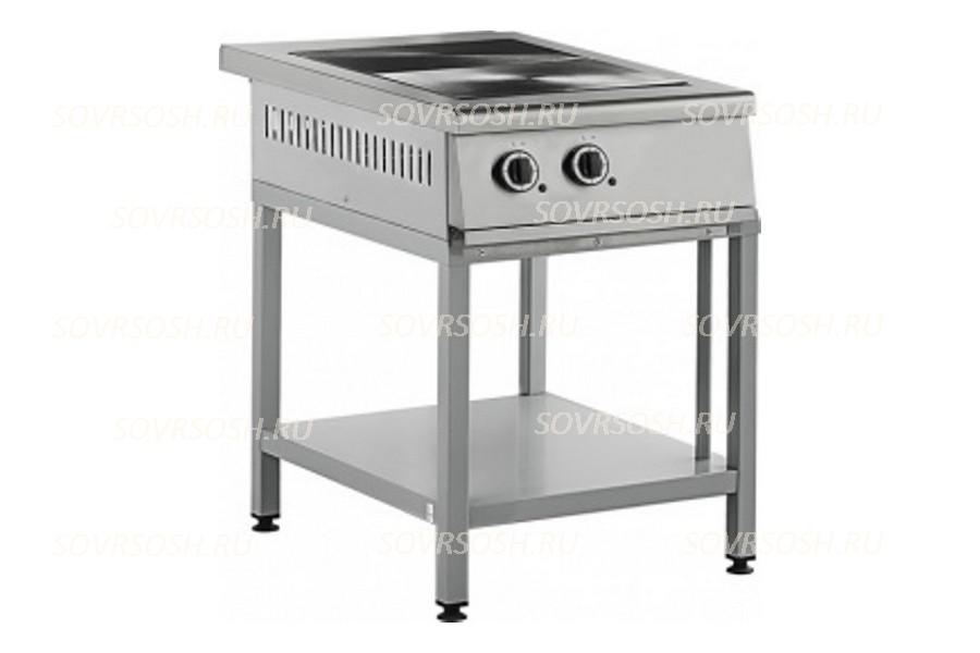 Плита электрическая 2-конфорочная без жарочного шкафа ПЭ-812ОН-01 / 5,5кВт, 380В / вся нержавейка