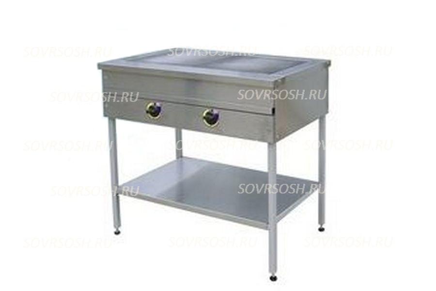Плита электрическая 2-конфорочная без жарочного шкафаПЭ-2 / 6кВт, 220/380В / вся нержавейка