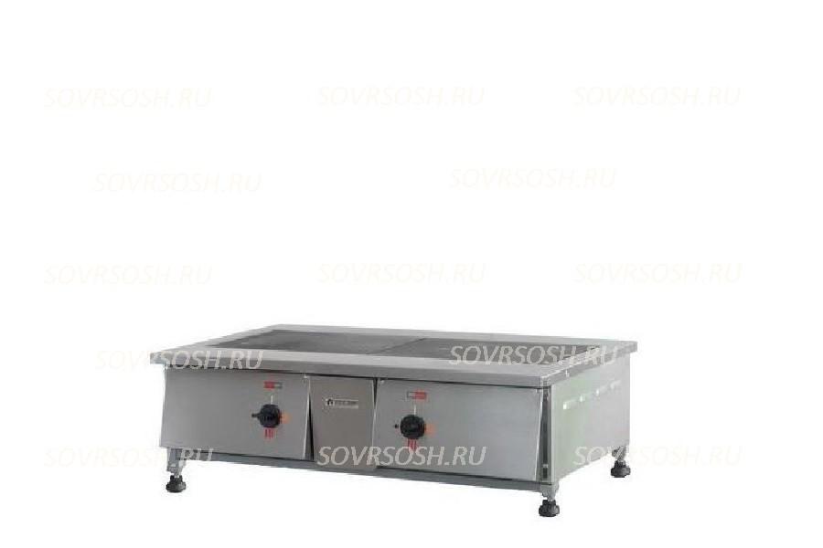 Плита электрическая 2-конфорочная настольная без жарочного шкафа ПЭН-2 / 6кВт, 220/380В / вся нержавейка
