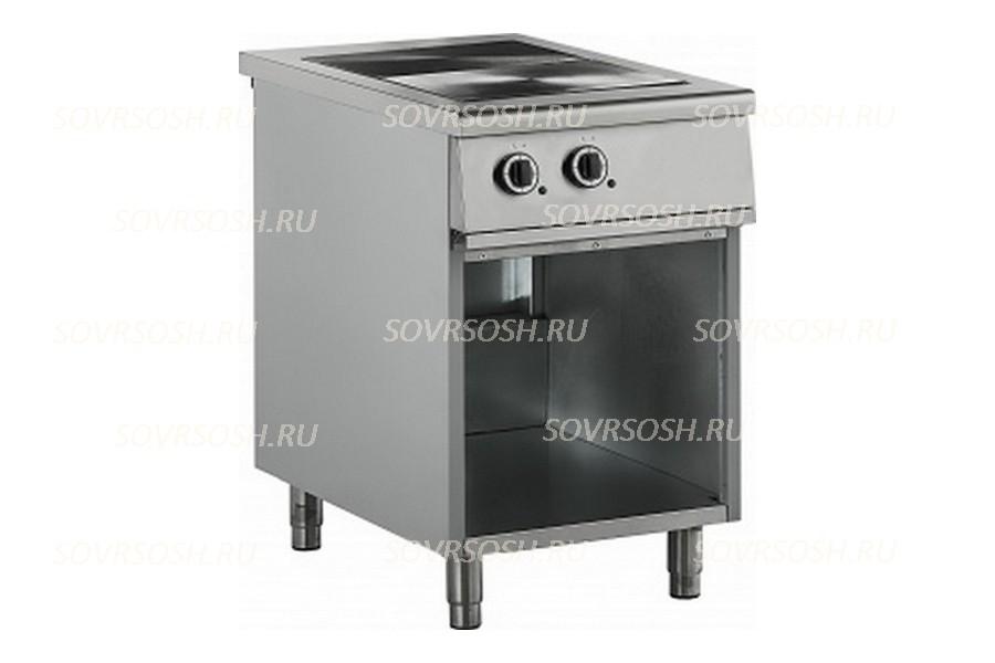 Плита электрическая 2-конфорочная с жарочным шкафом ПЭ-812ОН / 5,5кВт, 380В / вся нержавейка