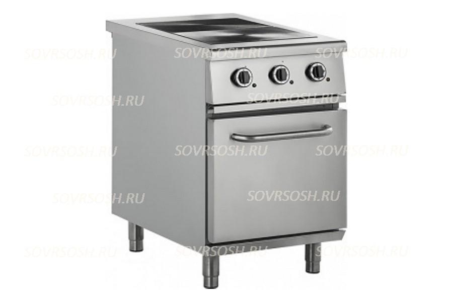 Плита электрическая 2-конфорочная с жарочным шкафом ПЭ-812Ш / 8,5кВт, 380В / вся нержавейка