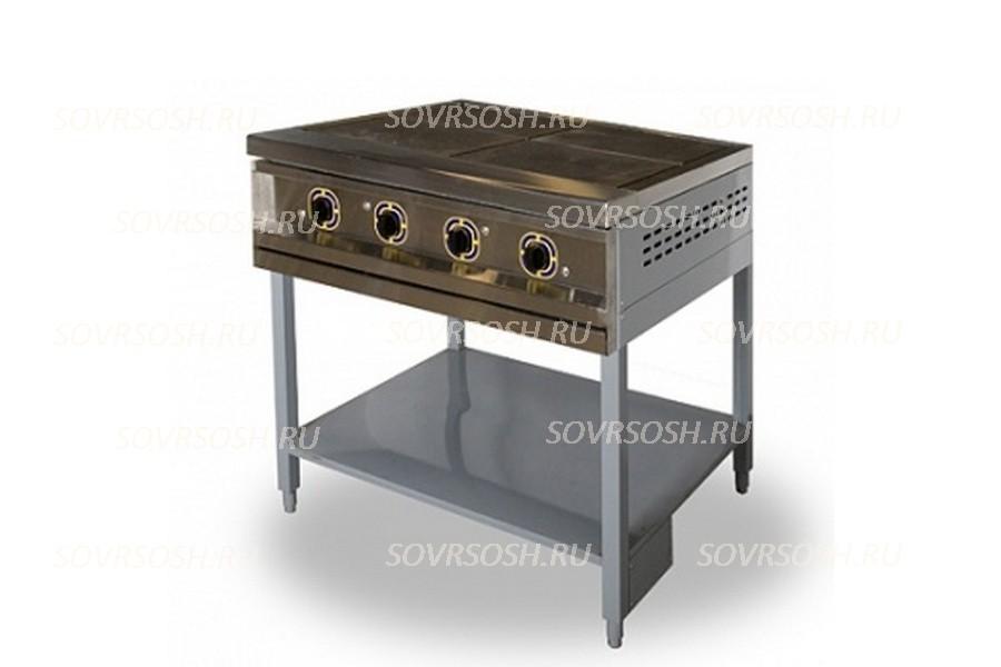 Плита электрическая 3-конфорочная без жарочного шкафа ПЭ-3 / 9кВт, 380В / вся нержавейка