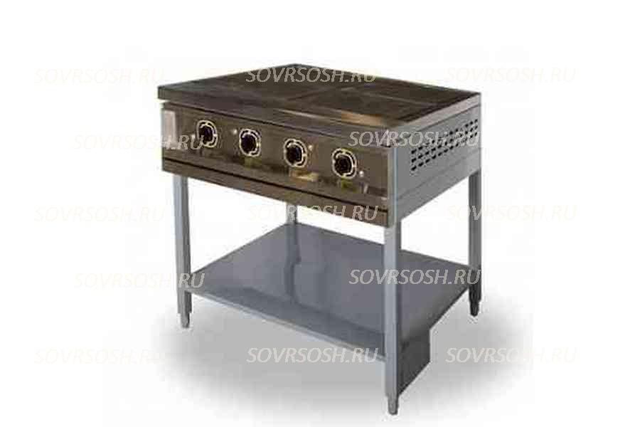 Плита электрическая 4-конфорочная без жарочного шкафа ПЭ-4 Н / 12кВт, 380В / вся нержавейка