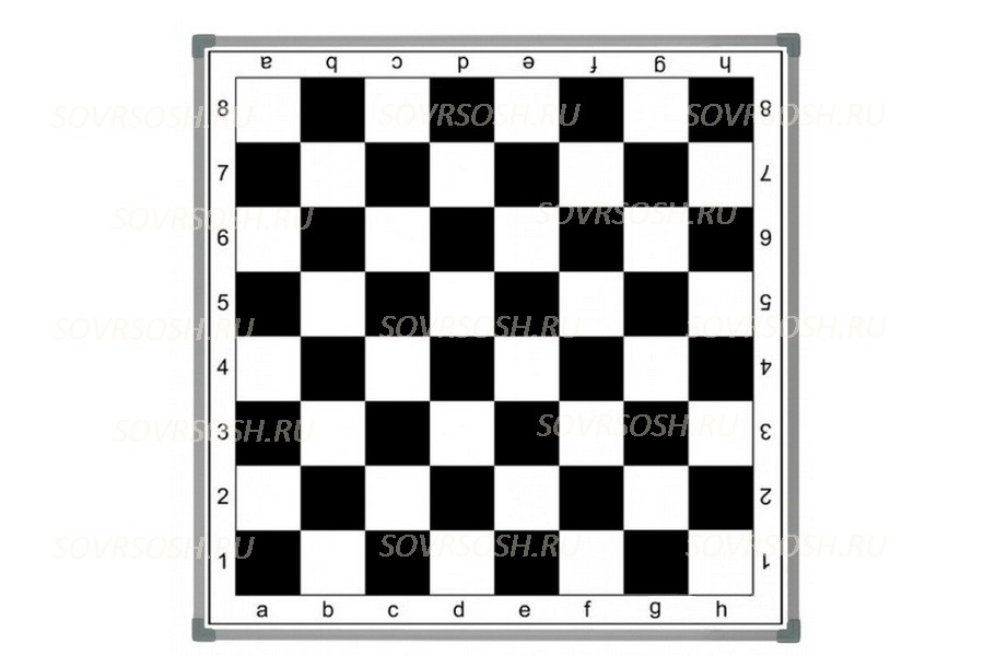 Доска шахматная настенная магнитная