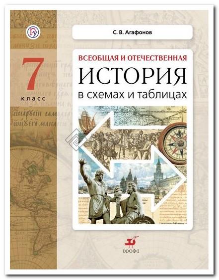 Агафонов История в схемах и таблицах 7 класс Дидактические материалы (ФГОС)
