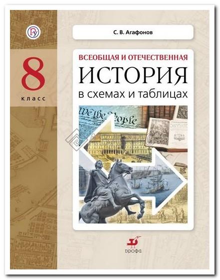 Агафонов История в схемах и таблицах 8 класс Дидактические материалы (ФГОС)