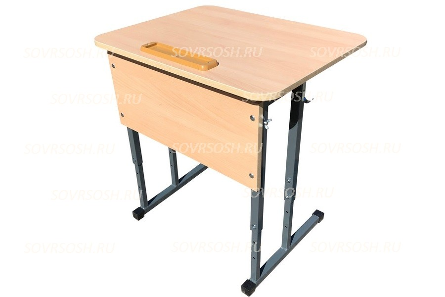 Стол ученический одноместный регулируемый по высоте и углу наклона 0-16 градусов СТОпрРУН